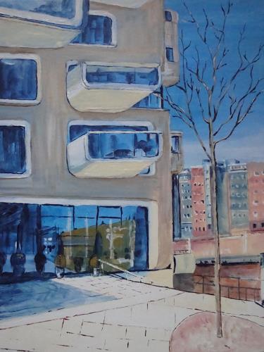 Günther Wunderlich, Hafencity im Spiegel, Architektur, Konkrete Kunst
