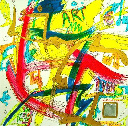 Werner Reiter, Artvogel, Abstraktes, Abstrakte Kunst