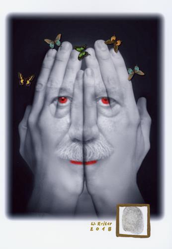 Werner Reiter, Der Traum / 2018, Menschen: Gesichter, Diverses, Moderne, Abstrakter Expressionismus