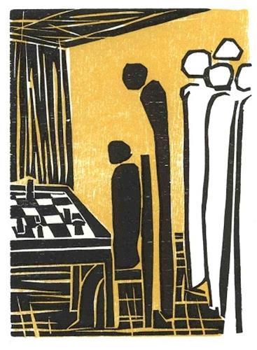 Elke Rehder, Stefan Zweig - Schachnovelle 1, Spiel, Gesellschaft, Gegenwartskunst