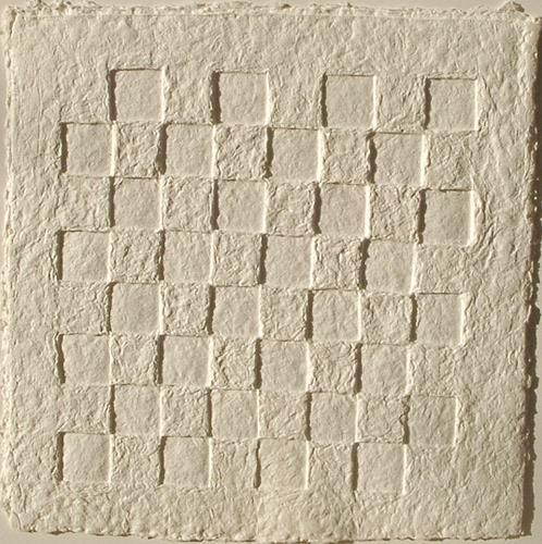 Elke Rehder, PaperArt Schachbrett - Objekt  aus handgeschöpftem Papier, Spiel