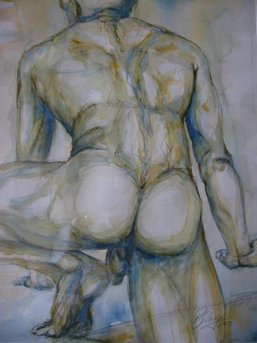 Robert Schrag, Aufstieg, Akt/Erotik: Akt Mann, Diverse Erotik, Neue Figurative Malerei, Abstrakter Expressionismus