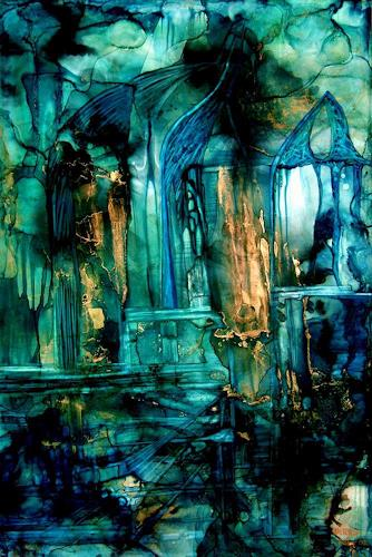 WERWIN, Black Rain, Abstraktes, Abstraktes, Abstrakte Kunst
