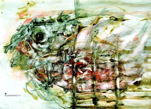 WERWIN, Lady in red, Abstraktes, Abstraktes, Abstrakte Kunst