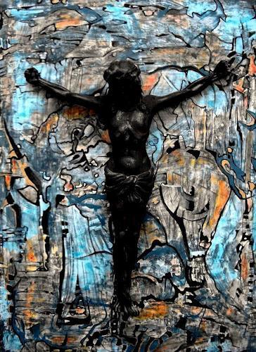 WERWIN, My Friend Jesus, Abstraktes, Glauben, Gegenwartskunst, Abstrakter Expressionismus