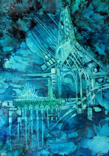 WERWIN, Gothic Dust, Abstraktes, Abstraktes, Abstrakte Kunst