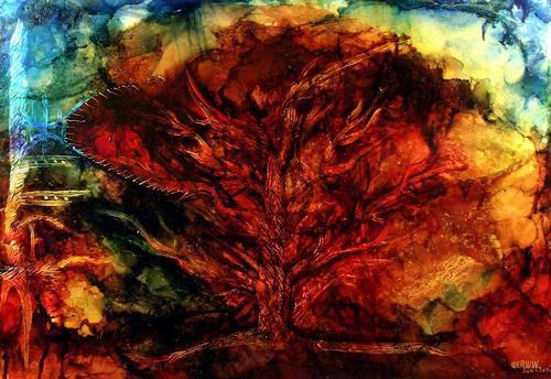 WERWIN, Letzter Zeuge, Abstraktes, Abstraktes, Abstrakte Kunst