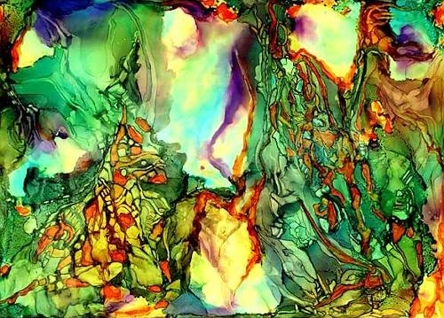 WERWIN, Natural Born, Abstraktes, Abstraktes, Abstrakte Kunst