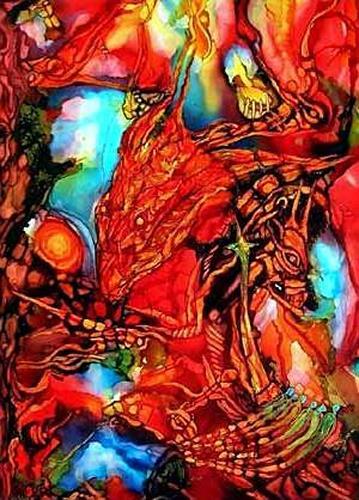 WERWIN, Red Acstasy, Abstraktes, Abstraktes, Moderne
