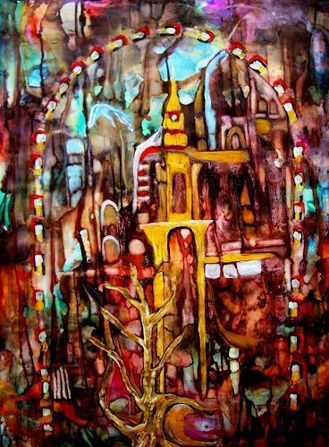 WERWIN, Dreamland, Abstraktes, Abstraktes, Abstrakte Kunst