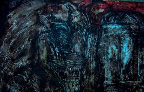 WERWIN, HORSE OF THE APOKALYPT, Abstraktes, Abstraktes, Gegenwartskunst