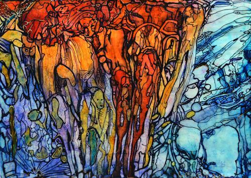 WERWIN, Einsamkeit, Abstraktes, Abstraktes, Gegenwartskunst, Abstrakter Expressionismus