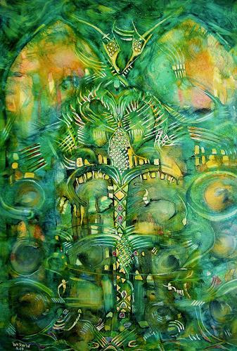 WERWIN, Green EXIT, Fantasie, Abstraktes, Gegenwartskunst