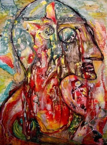 WERWIN, The Last Man from Woodstock, Fantasie, Menschen: Mann, Gegenwartskunst, Abstrakter Expressionismus