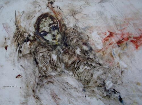 WERWIN, Die Vision, Krieg, Gegenwartskunst, Abstrakter Expressionismus