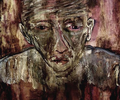WERWIN, O/T, Tod/Krankheit, Krieg, expressiver Realismus, Abstrakter Expressionismus