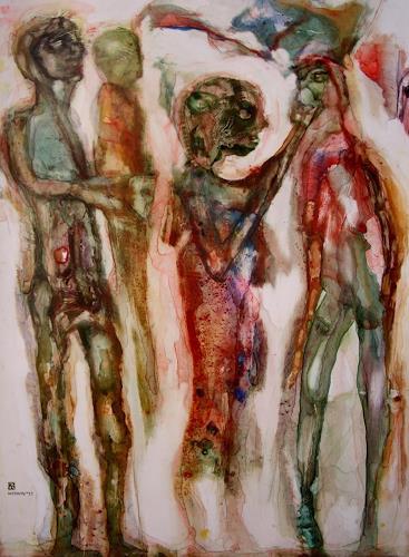 WERWIN, Gmbh, Menschen: Gruppe, Gegenwartskunst, Abstrakter Expressionismus