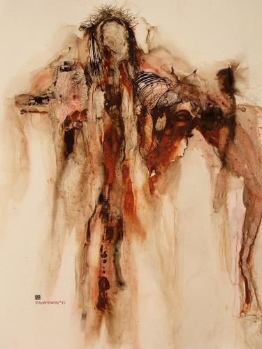 WERWIN, O/T, Religion, Gegenwartskunst, Abstrakter Expressionismus