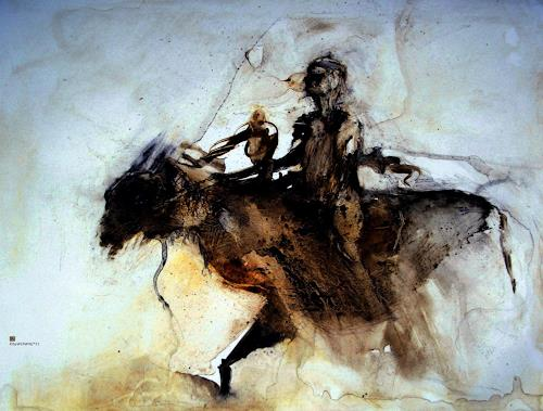 WERWIN, I ride alone, Tod/Krankheit, Gegenwartskunst, Abstrakter Expressionismus