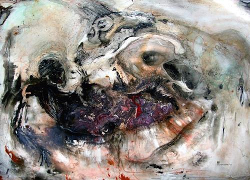 WERWIN, die letzte Begegnung, Gefühle: Trauer, Tod/Krankheit, Gegenwartskunst, Abstrakter Expressionismus