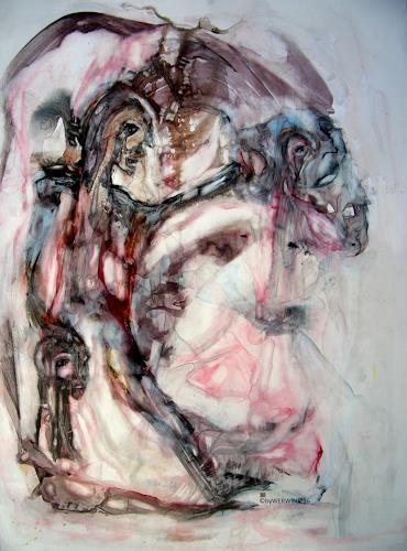 """WERWIN, Auf den zweiten Blick""""$!, Fantasie, Gegenwartskunst, Abstrakter Expressionismus"""