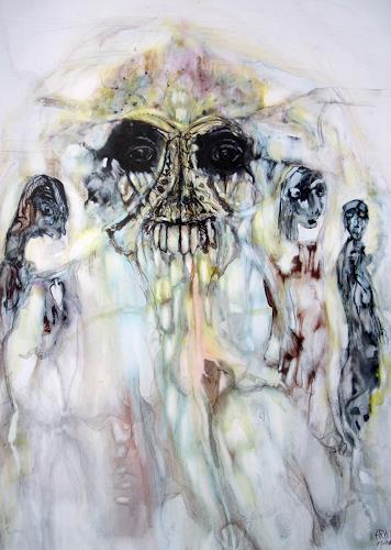 WERWIN, Dark shadow on the soul, Krieg, Krieg, Gegenwartskunst, Abstrakter Expressionismus