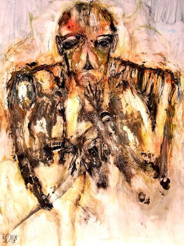 WERWIN, Einer der Gleichen, Menschen: Mann, Gegenwartskunst, Abstrakter Expressionismus