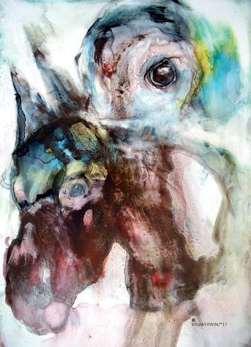 WERWIN, Der andere der bist du, Fantasie, Gegenwartskunst, Abstrakter Expressionismus