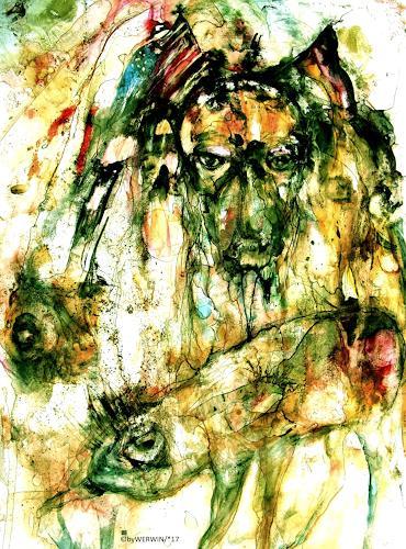 WERWIN, United Downfall, Fantasie, Gegenwartskunst, Abstrakter Expressionismus