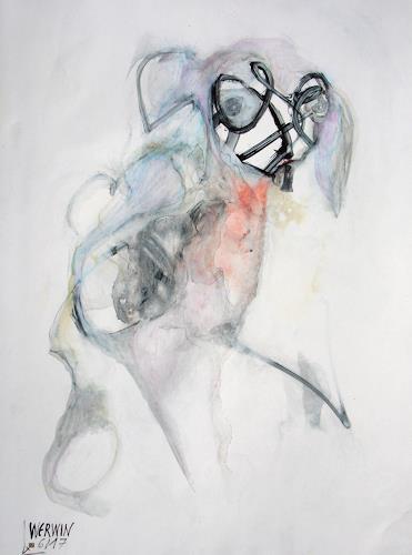 WERWIN, Frage Zeichnen, Fantasie, Gegenwartskunst