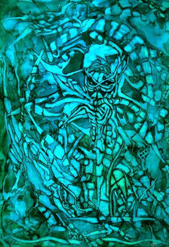 WERWIN, Last Station, Tod/Krankheit, Gegenwartskunst, Abstrakter Expressionismus
