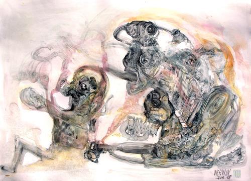 WERWIN, Nur durch die Augen der andern, Fantasie, Surrealismus, Abstrakter Expressionismus