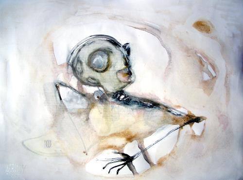 WERWIN, Im Nebel der Verdächtigen, Fantasie, Prozesskunst, Abstrakter Expressionismus