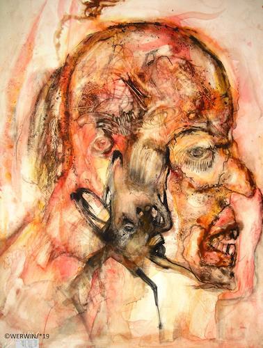 WERWIN, er überlegt sich noch wies weitergeht, Fantasie, Surrealismus, Abstrakter Expressionismus