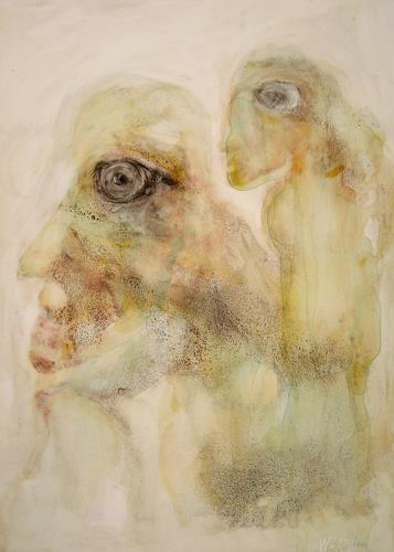 WERWIN, Absprache Fluchtplan Osterinsel, Fantasie, Surrealismus, Abstrakter Expressionismus