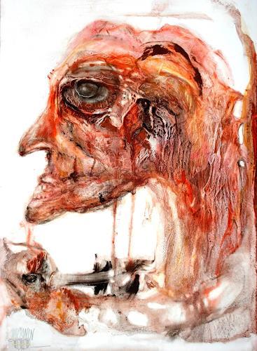WERWIN, auge um auge, Menschen, Surrealismus, Abstrakter Expressionismus