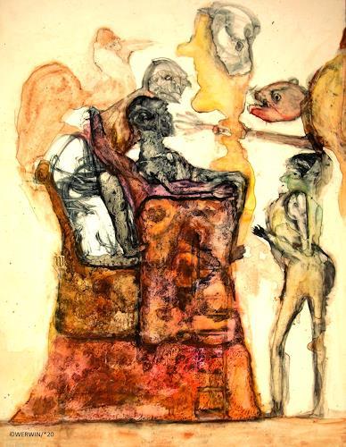 WERWIN, und was heißt hier künstlerische freiheit, Fantasie, Surrealismus, Abstrakter Expressionismus