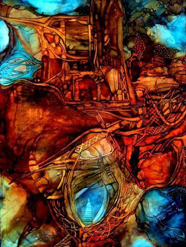 WERWIN, Defender Nr1, Abstraktes, Abstraktes, Abstrakte Kunst, Expressionismus