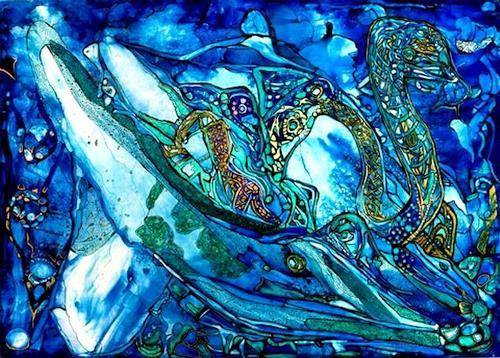 WERWIN, Ocean Dream, Abstraktes, Abstraktes, Abstrakte Kunst