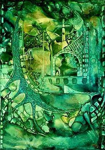WERWIN, Green Spirit, Abstraktes, Abstraktes, Abstrakte Kunst