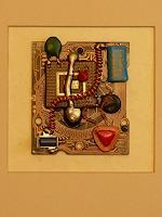 W. Clemens, HirnHerz 1.1 aus der Serie Prozessorkunst