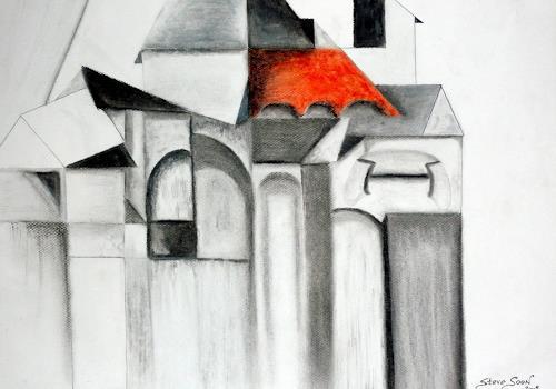 Steve Soon, Gutshof in Schlag/Waldviertel, Architektur, Kubismus