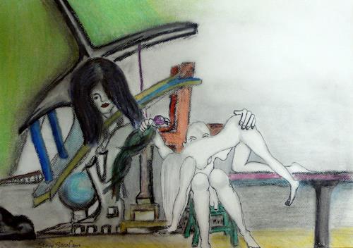 Steve Soon, Michael`s Popogeienflug, Fantasie, Neue Figurative Malerei