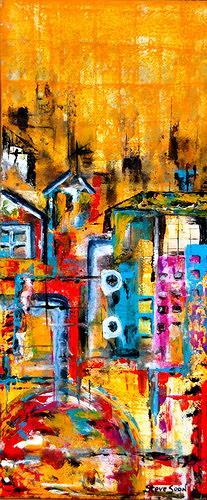 Steve Soon, blue car parking, Abstraktes, Radikale Malerei