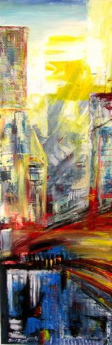 Steve Soon, city night, Diverse Bauten, Konstruktivismus