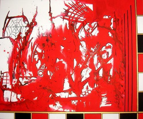 Steve Soon, rouge et noir, Abstraktes, Radikale Malerei