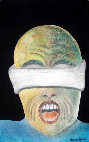 Steve Soon, Ohnmacht -Selfportrait, Menschen: Gesichter, expressiver Realismus