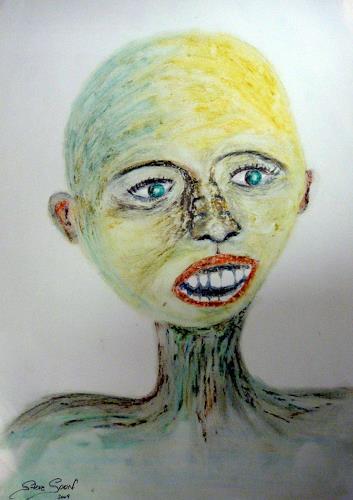 Steve Soon, W-a-rr-u-m??, Menschen: Gesichter, Neue Figurative Malerei, Andere, Moderne