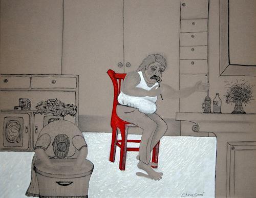 Steve Soon, Karl Frickensäckler..., Menschen: Familie, Neue Figurative Malerei