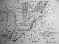 Steve-Soon-Akt-Erotik-Akt-Frau-Moderne-Naive-Kunst